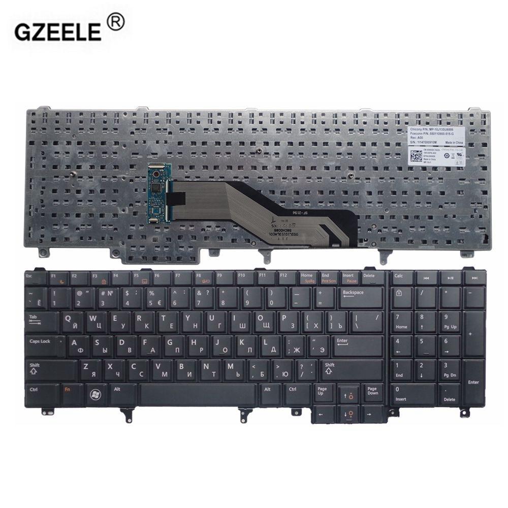 hight resolution of gzeele laptop keyboard for dell e6520 e5520 m4600 m6600 e5530 e6530 m4700 m6700 ru layout new black replacement russian keyboard in replacement keyboards