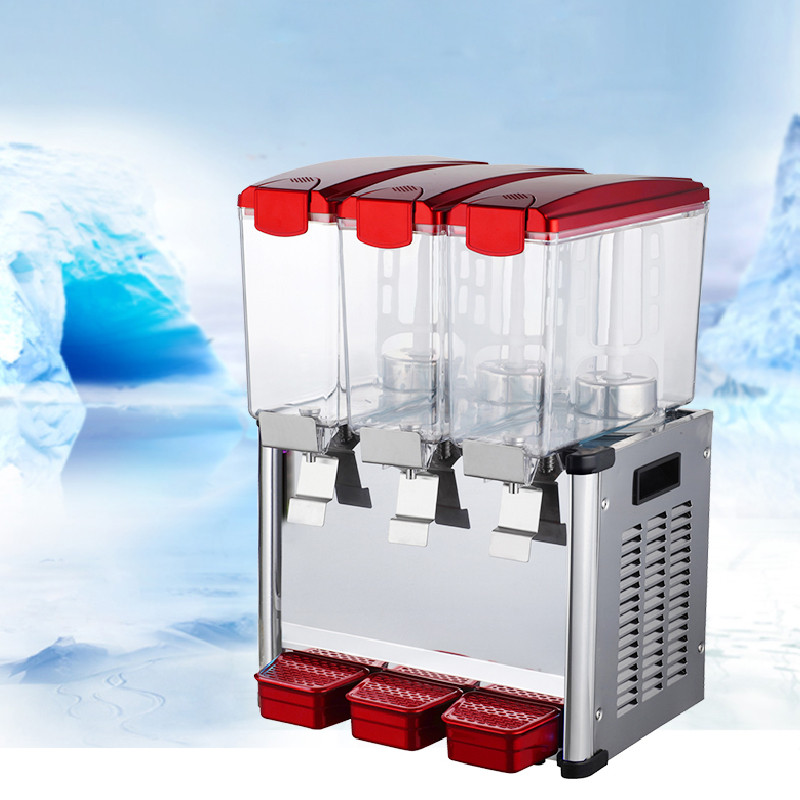 Jamielin Three Tanks Cold&hot Drink Dispenser 9L*3 Fruit Juice Dispenser Beverage Machine Automatic Hot And Cold Drinks Maker