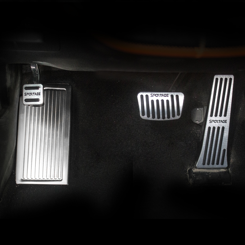 In alluminio Per Auto Pedale del Freno Resto Del Piede Pedali Coperture Non Rilievo di Slittamento A Per Kia Sportage 4 2016 2017 2018 2019 Accessorie
