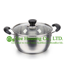 Stainless steel cookware kitchenware, manufactuer in China free shipping induction cooking pot,steamer pot,soup,mini pot kitchen