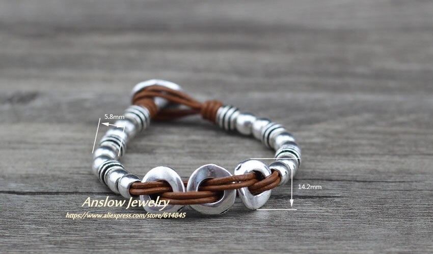Anslow 2018 Creative Design De Mode Bijoux En Cuir Wrap Vintage Unisexe  Femmes En Gros Bracelet Cadeau du Jour de Mère LOW0630LB. bijoux femme ... 793a5d734db4