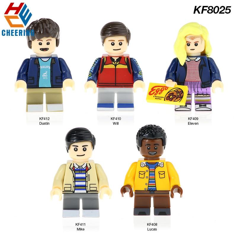 KF8025 Juguetes Stranger Things Blocks Eleven Lucas Neto Will Mike Dustin Action Figures Building Blocks For Children Gift Toys