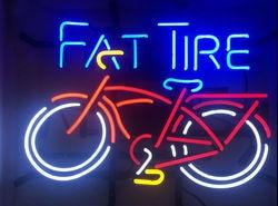 Fat Tire Fiets Glas Neon Light Teken Beer Bar