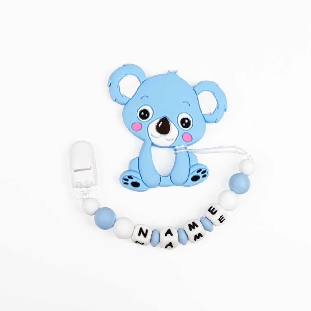 TYRY. HU силиконовый Прорезыватель цепочка с зажимом для соски-пустышки буквенные бусины браслет детское прорезиненное Силиконовое ожерелье для прорезывания зубов бусина BPA бесплатно