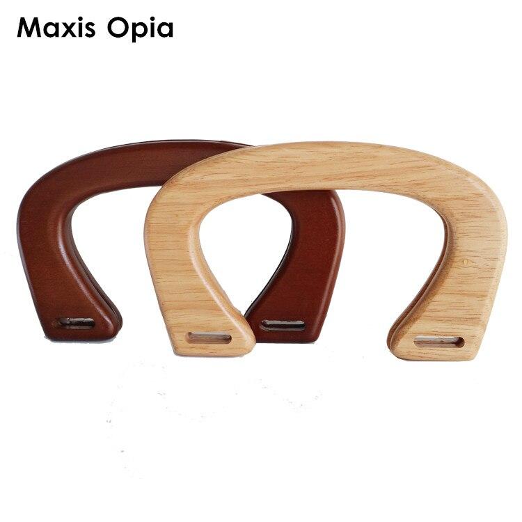 One Pairs U shape Wooden Purse Frame Bag Handle 16X11 CM Wood DIY Handbag Accessories Obag Alca De Bolsa Wooden Purse Handle