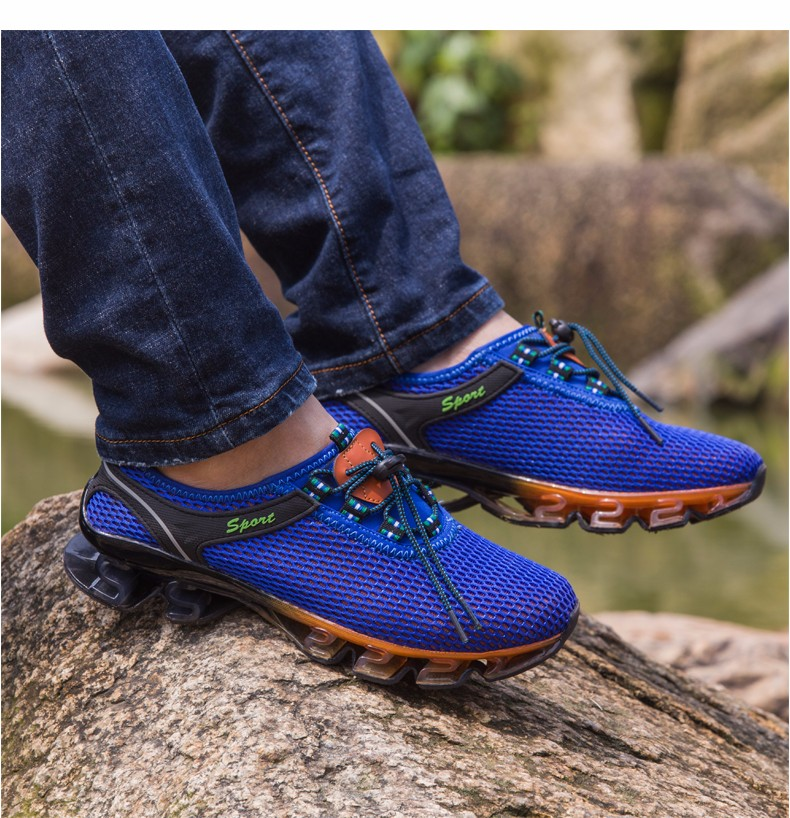 Super Cool breathable running shoes men sneakers bounce summer outdoor sport shoes Professional Training shoes plus size 19