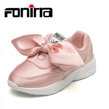 2017 New Fashionable Breathable Children Casual Sport Running Shoes Bow-Knot Boys Sneakers Kids 173