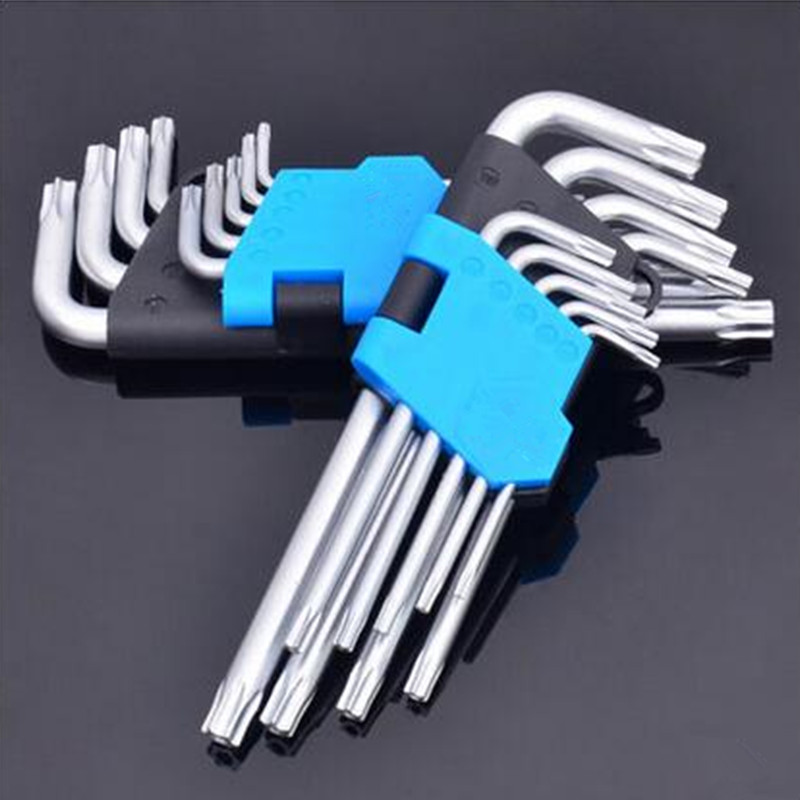 Use Cars Refrigerator etc 9 Pieces L Shaft T10 T15 T20 T25 T27 T30 T40 T45 T50 Security Torx Screwdriver