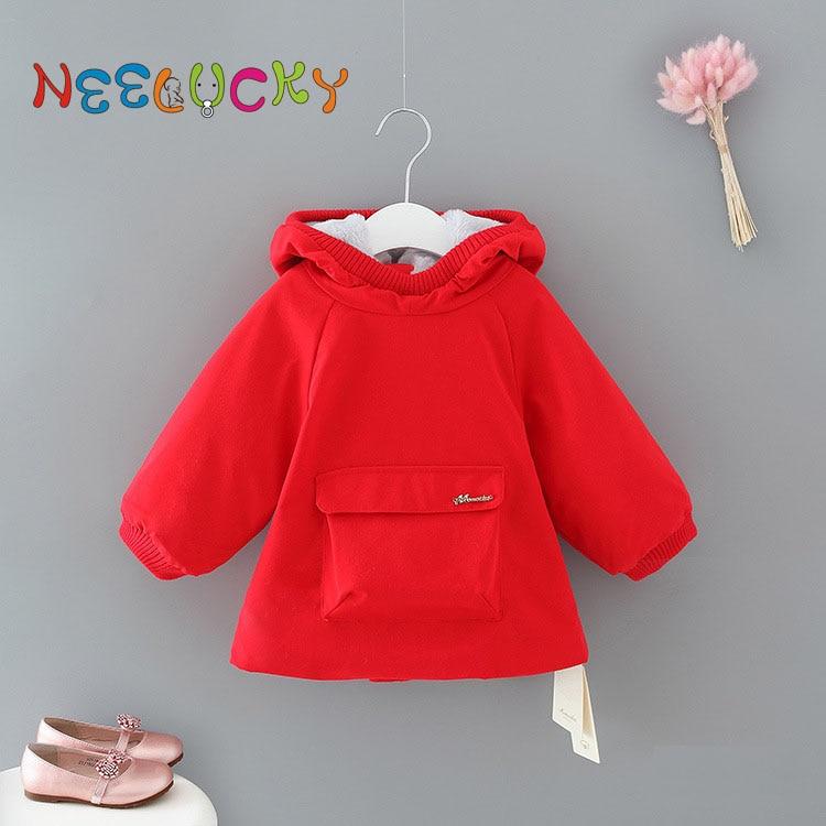 New, Girls, Jacket, Coat, Thick, Autumn
