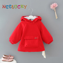 купить Baby girl clothes autumn and winter new girls jacket simple casual children thick warm winter coat дешево