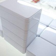 Новое поступление 150X100X50 мм белый конфеты ювелирные изделия Контейнер для хранения металла чехол печенье жестяная коробка