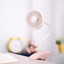 Portable Rechargeable Fan 5V Flexible USB Cooling For Office Table Clip 3 Color Mini Air Cooler