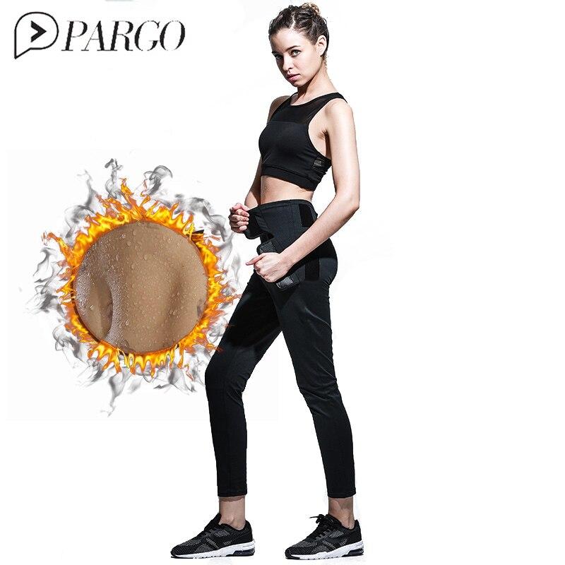 PARGO Hot Sweet Sauna Pants Leggings High Waist Fitness Cross Yoga Tight Women Slim Running Sportswear Sports Pants Quick Drying