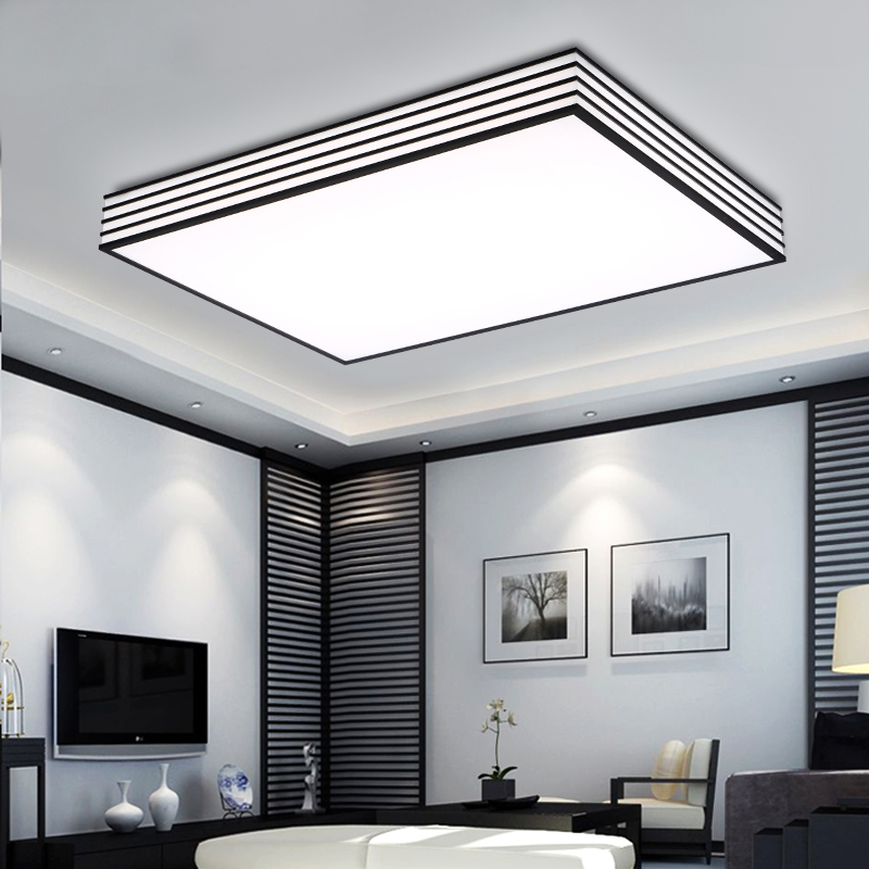 Led Ceiling Kitchen Lights: Square Modern Led Ceiling Lights Living Lamparas De Techo