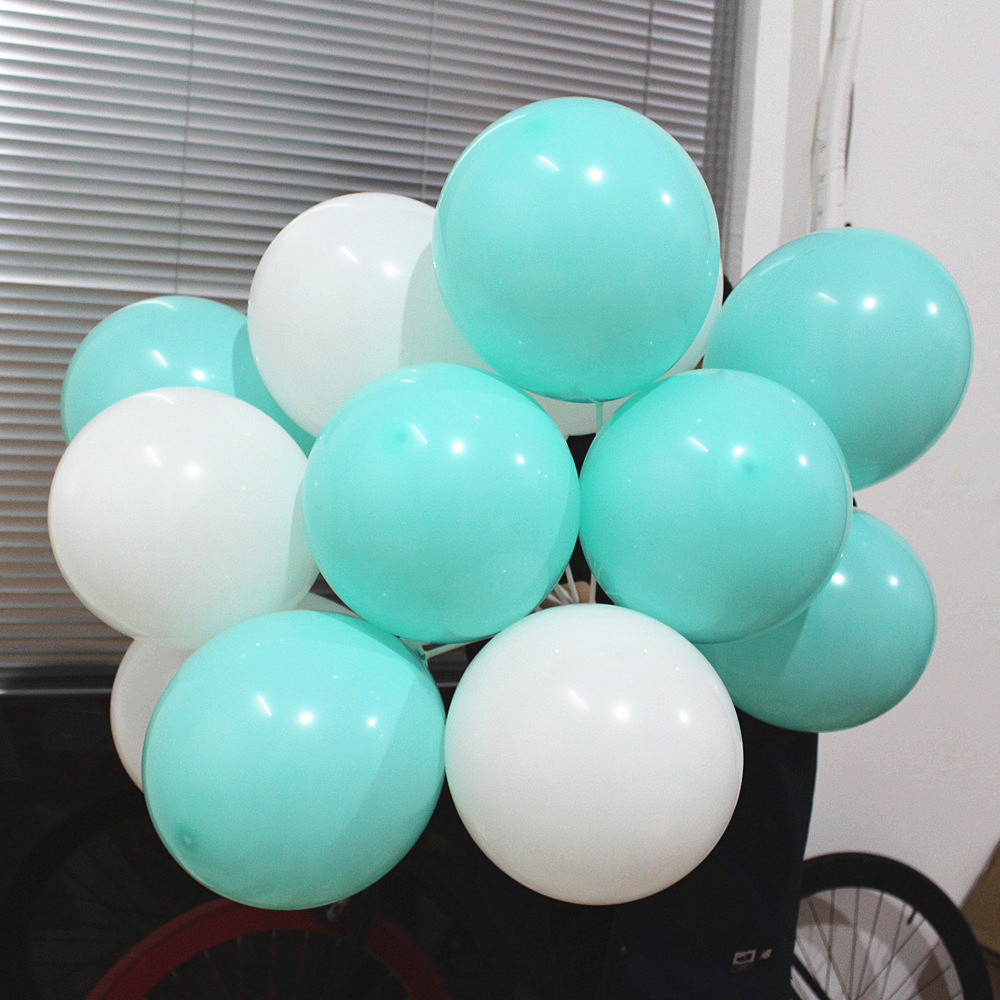 Tiffany Blue Balloons 20pc 10 Inch Thick 2.2 g Birthday Ballons Decorations Wedd