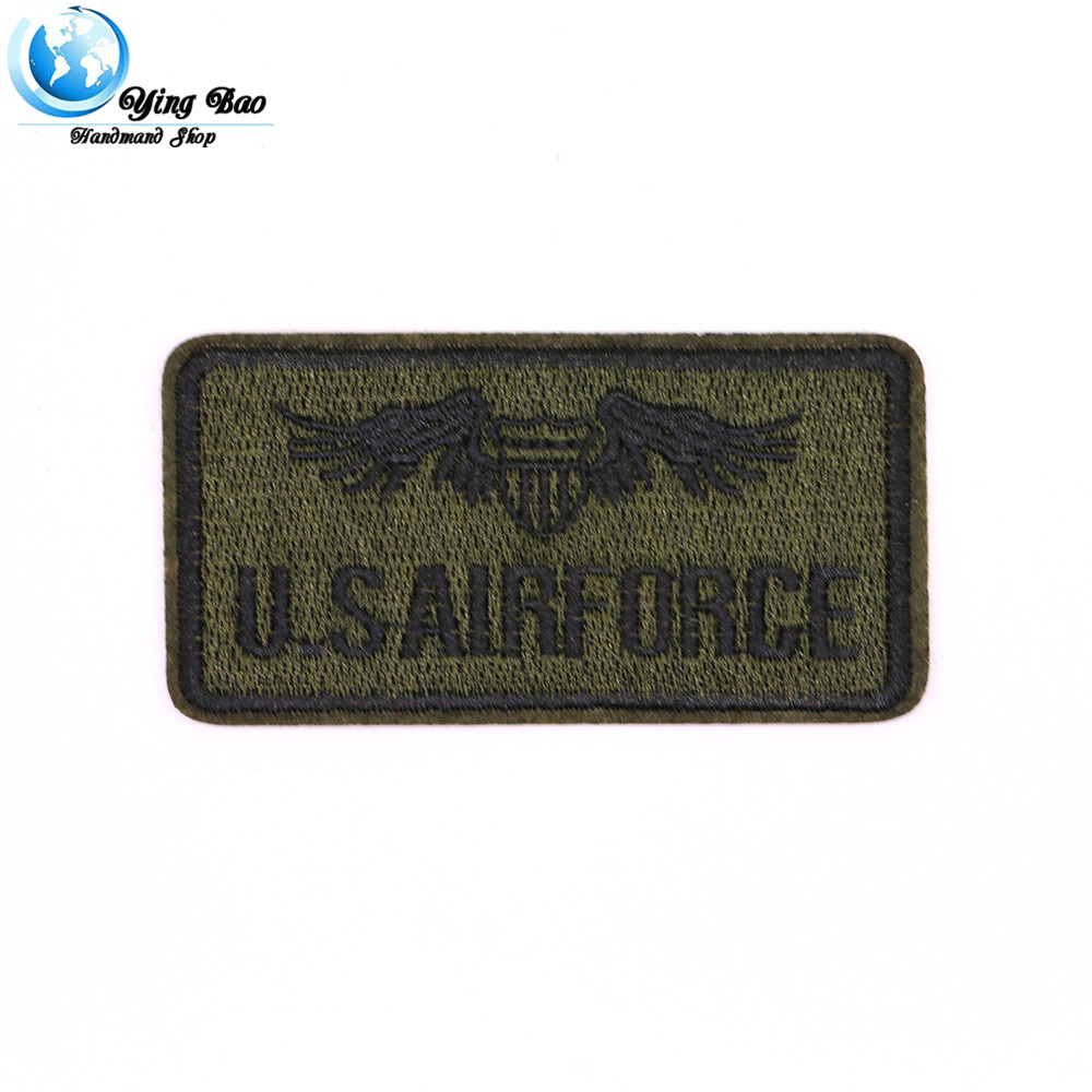 New 1 pcs size : 4.5*8.8 cm Iron-on air force patch U.S AIRforce garment Appliques acces ...