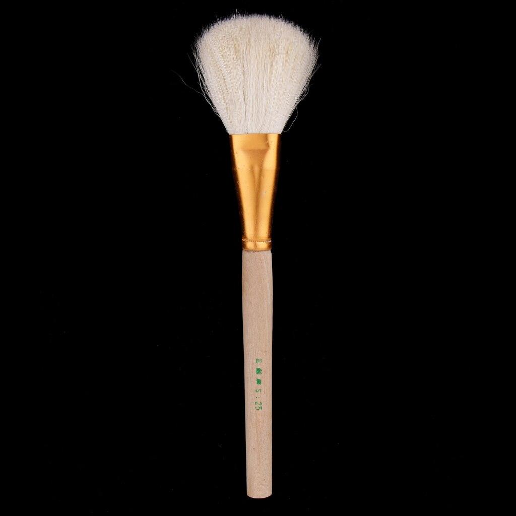 Большая голова глиняные чистящие кисти с деревянными ручками формочки, художники краски кисти, гончарная глина скульптура инструменты для резьбы, чистка, рисунок - Цвет: 22cm