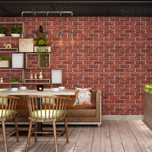 Retro Nostalgic 3D Brick Wallpaper Home Barber Shop Industrial Wind Background Imitation Red Gray Wall Paper Roll