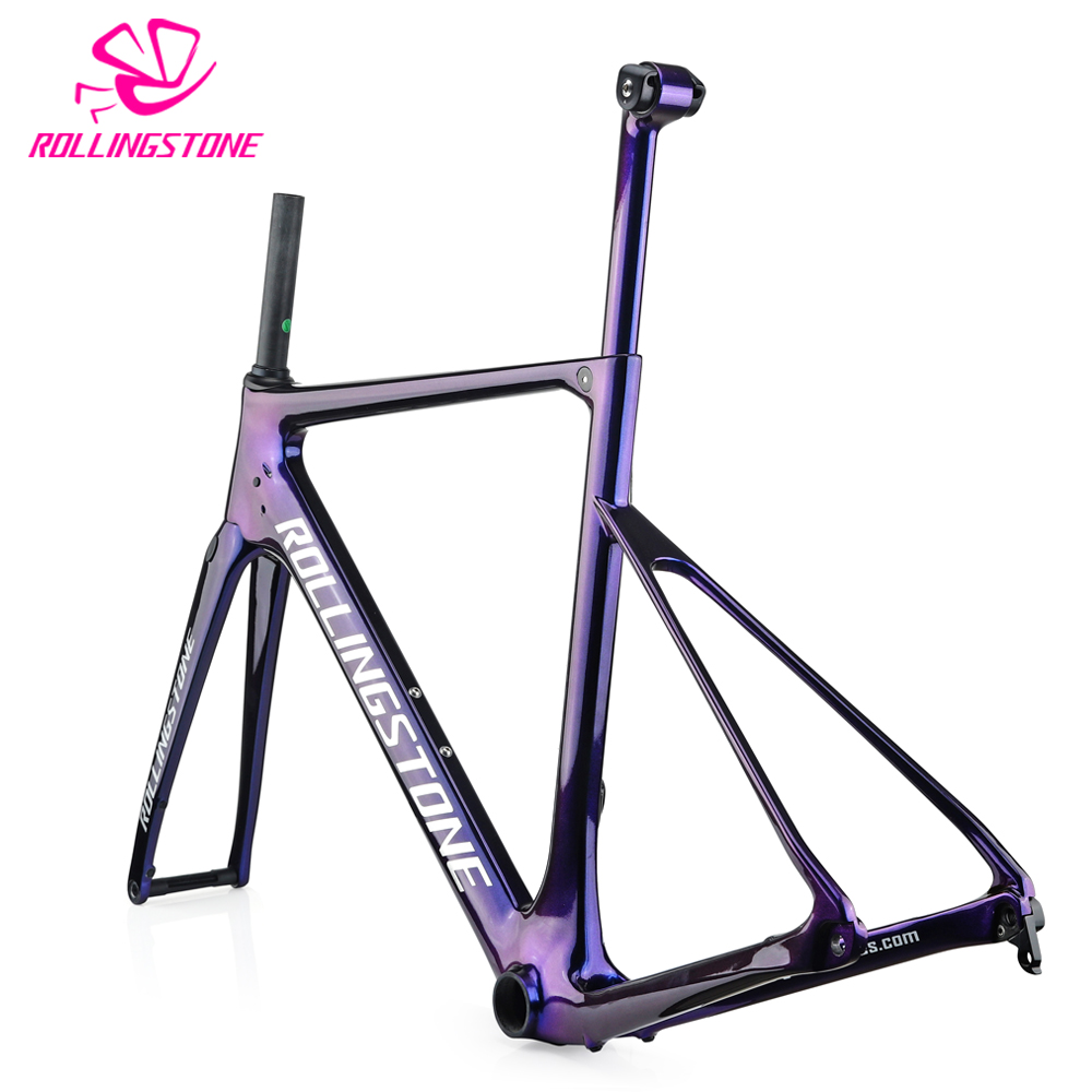 2018 cadres de bicyclette de carbone route cadre de vélo frein à disque T800 cadres ultra-léger 1100g 48 cm 51 cm 54 cm siège post mat balck enduro