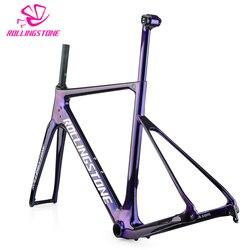 2018 carbon bicycle frames road bike frame disc brake T800 frameset ultralight 1100g 48cm 51cm 54cm seat post matt balck enduro