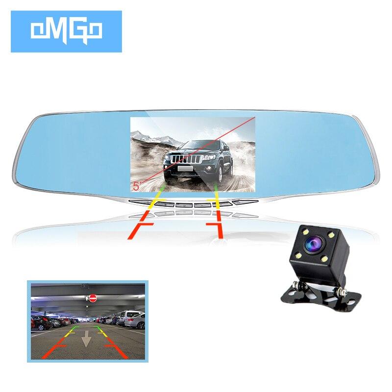 imágenes para Cámara de doble lente del espejo retrovisor del dvr de coches dvr grabador de vídeo registrator videocámara hd1080p visión nocturna dash cam