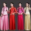 Chinês tradicional traje feminino completa dress guzheng traje chinês folk dança desempenho trajes de dança das mulheres do traje