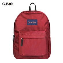 Ou Mo brand waterproof Solid Color laptop man backpack Women computer bag anti theft school Bag teenagers Backpack