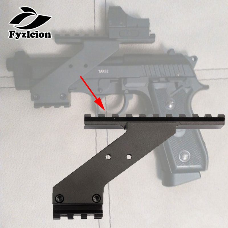 Tactical Hunting Accessories Gl Pistol 17 19 20 22 23 30 32 Scope Weaver Picatinny Rail Mount For Flashlight Laser Scope