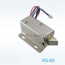 XG-03 DC12V / 24V Small Electric Bolt Lock Electromagnetic Lock Drawer Electronic Locks