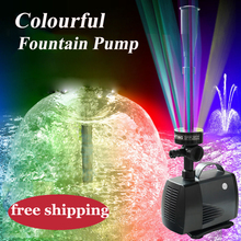 garden pump 40W fish pond pump 2017 new LED fountain pump for garden decoration free shipping colorful led light pump