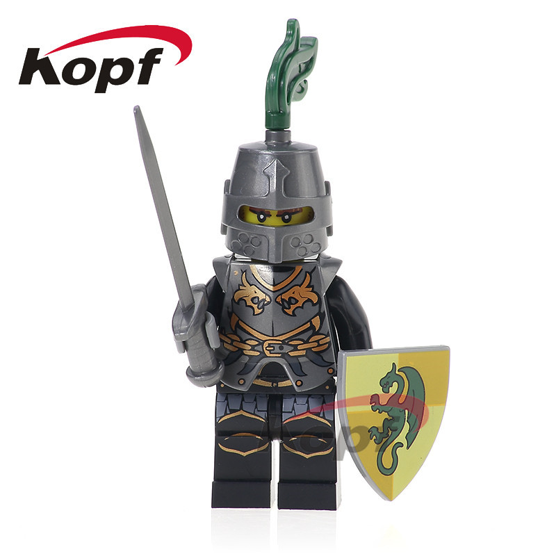 Single Sale Super Heroes Medieval Rome Dragon Frightening Knight Egypian Warrior Model Building Blocks Children Gift Toys XH 519 single sale super heroes homecoming spiderman with hand spidder