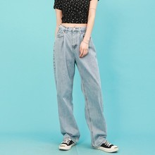 High Waist Jeans Women Vintage Jeans Femme Wide Leg Pants Loose Boyfriend Denim Jeans Streetwear Trousers 2017 fashion high waist jeans women loose denim woman s wide leg pants side stripe hollow pants female boyfriend jeans