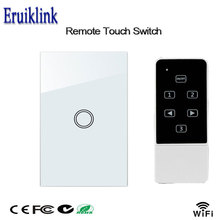 US Standard Smart Wall Switch 1 Gang 1 Way Mobile Remote Control Light Lamps Via Broadlink App Control, Smart Home Automation