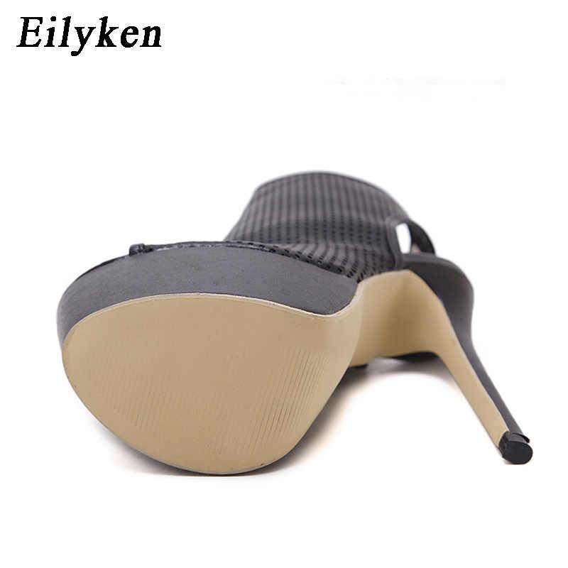Eilyken Moda Kadın Sandalet ayakkabı Pompaları Peep Toe cut-çıkışları ayakkabı Seksi Yüksek topuklu Gladyatör Sandalet Kadın Artı boyutu 35-40