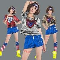 2017 Songyuexia Adult jazz dance ds modern dance costumes hiphop hip-hop paillette dj dance costume clothes