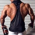 3 Cores Homem Estilo Verão Sem Mangas Com Capuz Colete Musculação Regatas Muscular Dos Homens Casuais Com Capuz Manter Fit Regatas Colete