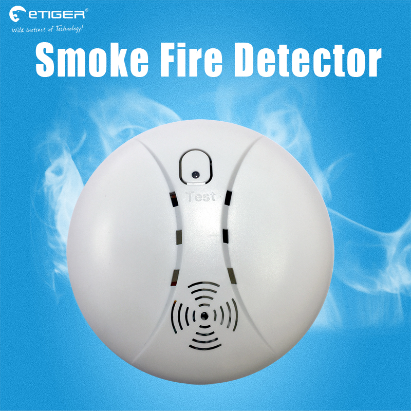 433MHz Portable Alarm Sensors Wireless Fire Smoke Detector for all of home security alarm system in our store smoke sensor Alarm 4 pcs 433 mhz wireless network smoke heat detector temperature sensor kitchen fire alarm for wifi gsm home security alarm system