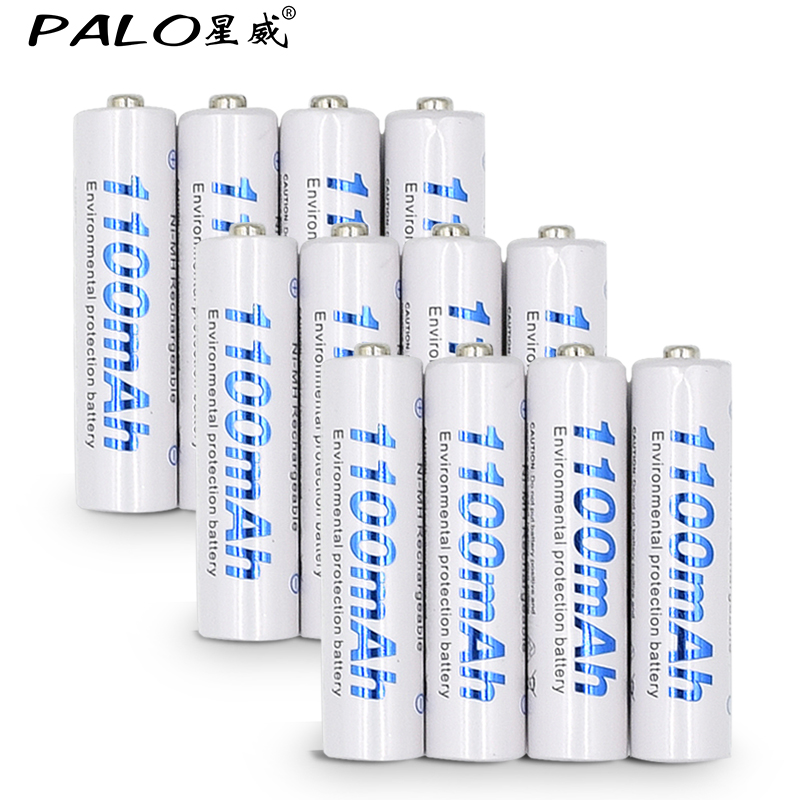 Free shipping and Gift battery box,12 pcs 1100mAh 1.2v AAA rechargeable battery for camera MP3 mp4 microphone placement battery best battery brand mp3 mp4 free shipping 3 7v lithium battery 061530 601533 250mah mp4 mp5 voice recorder small toys gps 37v