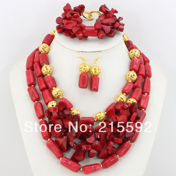 Wonderful African Coral Beads Jewelry Set Red African Jewelry Sets Fashion Nigerian Wedding Jewelry Set Free Shipping CJ113Wonderful African Coral Beads Jewelry Set Red African Jewelry Sets Fashion Nigerian Wedding Jewelry Set Free Shipping CJ113
