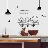 European retro Removable lamp Chandelier Wall Sticker Decal Mural Home Decor light design decal stickers for kitchen