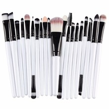 Get more info on the 20 pcs Makeup Brush Set tools professional Make-up Toiletry Kit Wool makeup brushes Set  mascara wand eyebrow cosmetic brush