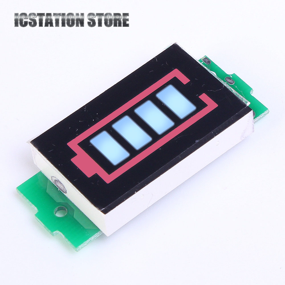 1S 2S 3S 4S 6S 7S Lithium Battery Capacity Indicator Blue Power Display Board Meter Tester 3.7V 8.4V 12.6V 16.8V 25.2V 29.4V battery capacity tester resistance testing mobile power lithium lead acid battery can be 18650 serial line 20w