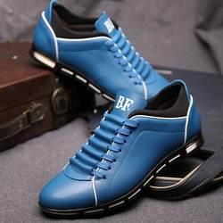 Masorini/мужские массажные туфли, коллекция 2019 года, весна-лето, мужские туфли в стиле Дерби, модные туфли на шнуровке, однотонные туфли на