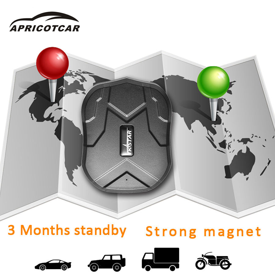 Vehicle GPS Waterproof Tracker Long Standby GPS GSM/GPRS Personal VehicleTrack for Car TKSTAR with 5000mAh Li Battery with Box