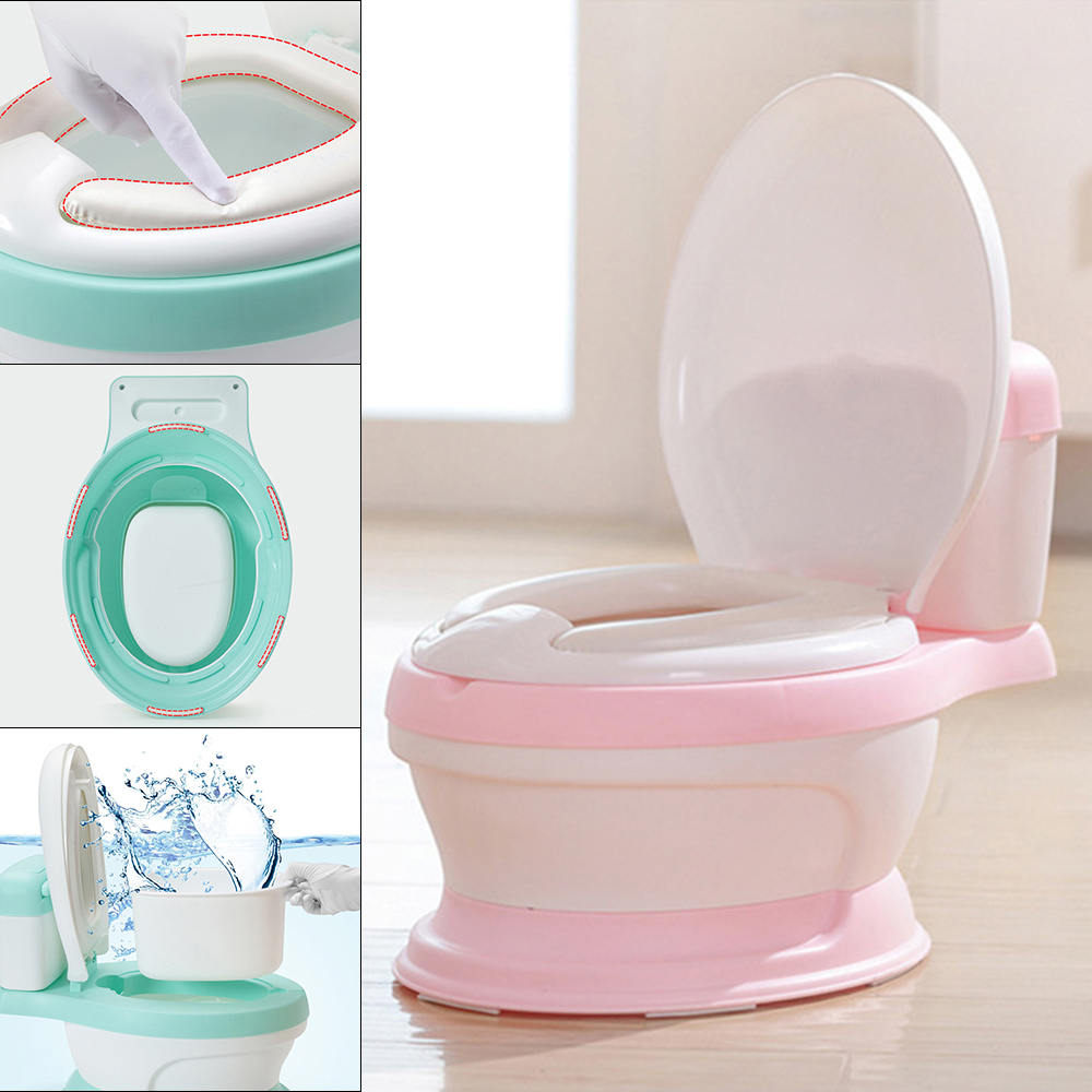 New Baby Potty Toilet Training Seat Portable Plastic Children's Pot Boy Girls Training Potty Urinal Toilet Potty Chair portable baby potty multifunction baby toilet cow children potty training boys girls toilet seat kids chair toilet pot urinal