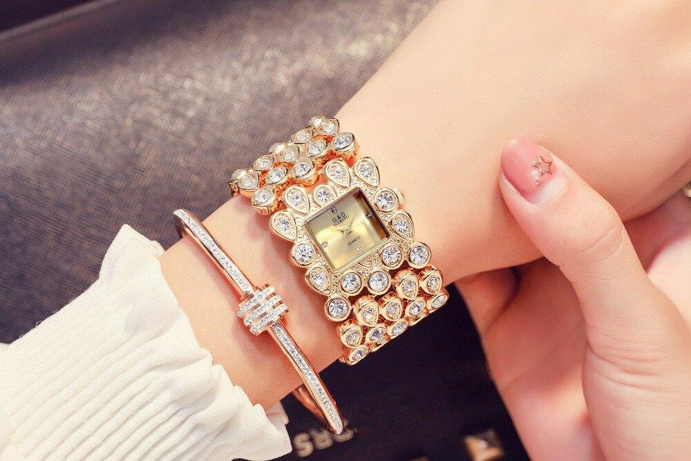 Pulseira de Relógio de Ouro de Luxo