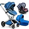 Роскошные детская коляска 3 в 1 pram, младенческой новорожденных детские коляски брендов коляски продажа, прекрасные дети коляска 3 в 1 году, бесплатная доставка