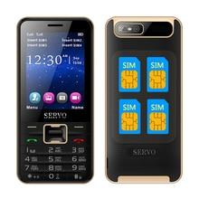Servo v8100 4 sim-karten 4 standby handy quad sim vier sim-karten handy Quad-Band 2,8 zoll Taschenlampe MP3 GPRS P282