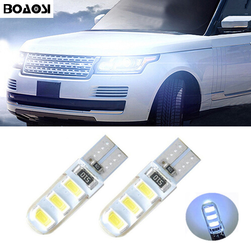 BOAOSI 2x 168 W5W T10 5630SMD Led with Projector Lens Light for Land Rover v8 discovery 4 2 3 x8 freelander 2 defender A8 a9