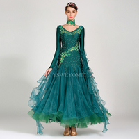 High Quality Ballroom Dress For Women Flamenco Waltz Competition Dancing Skirt Spandex Lycra Ballroom Dress Standard On Sale